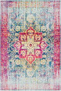 Surya Aura Vintage 7'10 x 10'3 Loomed Area Rug in Rose