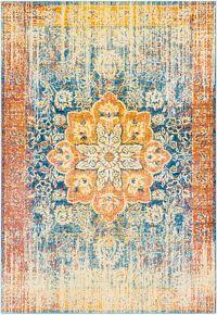 Surya Aura Vintage 7'10 x 10'3 Loomed Area Rug in Yellow