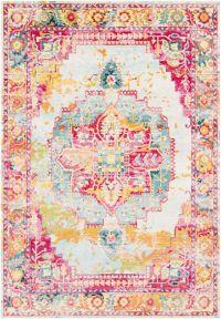 Surya Aura Silk 7'10 x 10'3 Area Rug in Pink