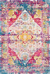 Surya Aura Silk 7'10 x 10'3 Area Rug in Vibrant Pink