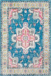 Surya Aura 7'10 x 10'3 Silk Area Rug in Sky Blue