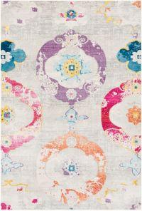 Surya Aura Silk Bohemian 7'10 x 10'3 Area Rug in Purple