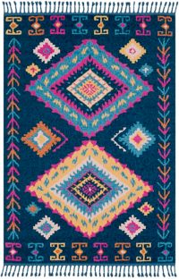 Surya Love Southwest 2' x 3' Accent Rug in Navy/Sky Blue