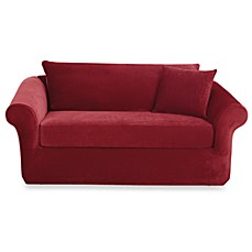 Sure Fit Stretch Sterling 3 Piece Sofa Slipcover Bed