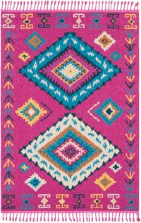 Surya Love Southwest 3'11 x 5'7 Area Rug in Bright Pink/Sky Blue