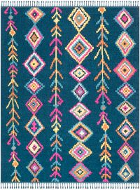 Surya Love 7'10 x 10' Area Rug in Navy/Pink