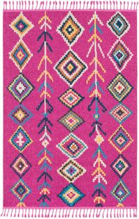 Surya Love 3'11 x 5'7 Area Rug in Bright Pink/Khaki