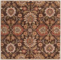 Surya Caesar 6' Square Hand Tufted Area Rug in Brown/Red