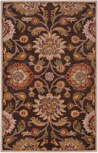 Surya Caesar 7'6 x 9'6 Hand Tufted Area Rug in Brown/Red