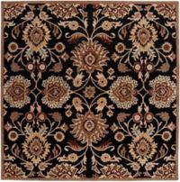 Surya Caesar 8' Square Hand Tufted Area Rug in Black/Brown
