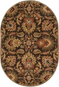 Surya Caesar Classic 6' x 9' Oval Handcrafted Area Rug in Brown/Rust