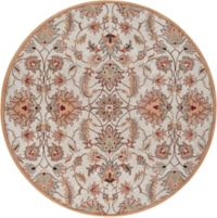 Surya Caesar Classic 9'9 Round Handcrafted Area Rug in Pink/Brown