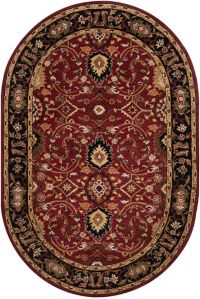Surya Athena Floral Oval 6' x 9' Oval Rug in Green/Yellow
