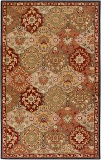 Surya Caesar Medallion 4' x 6' Hand Tufted Area Rug in Brown/Red