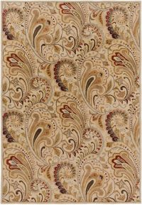 Surya Aurora Floral Hand-Tufted 9' x 13' Area Rug in Neutral/Brown