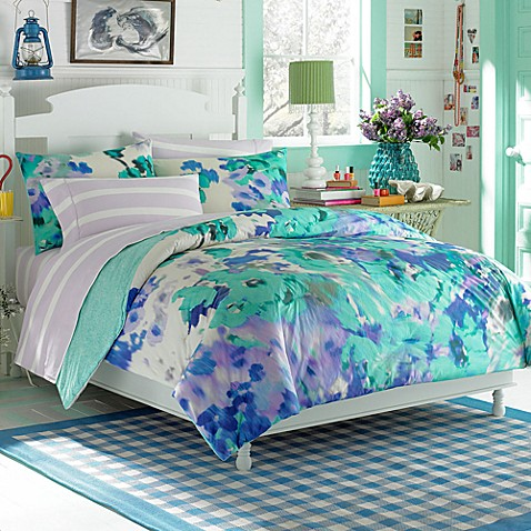 Teen Vogue 174 Watercolor Garden Comforter Set Bed Bath