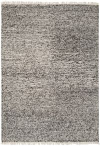 Surya Rex Solids and Tonals 4' x 6' Handcrafted Area Rug in Black