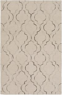 Surya Seabrook 3'6 x 5'6 Hand-Woven Area Rug in Khaki/Black