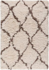 Surya Scout 2' x 3' Handcrafted Shag Accent Rug in Ivory/Dark Brown