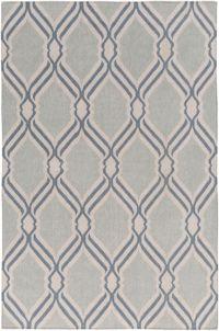 Surya Rivington Geometric 5' x 7'6 Area Rug in Light Grey
