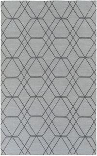 Surya Seabrook Geometric 5' x 7'6 Area Rug in Medium Grey