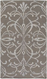 Surya Stallman Medallion 2' x 3' Hand-Woven Area Rug in Dark Brown