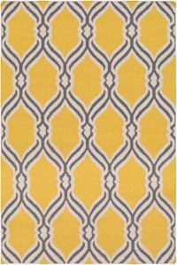 Surya Rivington Geometric 8' x 10' Area Rug in Bright Yellow
