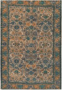 Surya Shadi Global 2' x 3' Accent Rug in Khaki/Teal