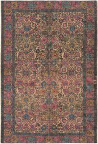Surya Shadi Global 5' x 7'6 Area Rug in Khaki/Bright Pink