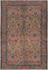 Surya Shadi Global 8' x 10' Area Rug in Khaki/Bright Pink