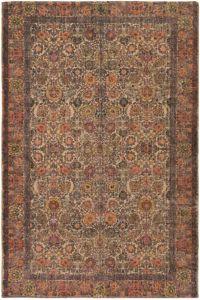 Surya Shadi Global 5' x 7'6 Area Rug in Khaki/Orange