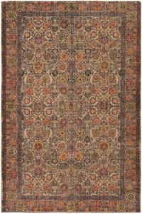 Surya Shadi Global 8' x 10' Area Rug in Khaki/Orange