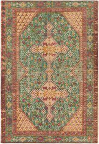 Surya Shadi Global 5' x 7'6 Hand-Woven Area Rug in Teal/Khaki