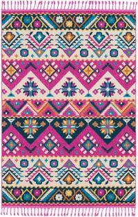 Surya Love Southwest 2' x 3' Accent Rug in Bright Pink/Navy