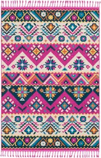 Surya Love Southwest 7'10 x 10' Area Rug in Bright Pink/Navy