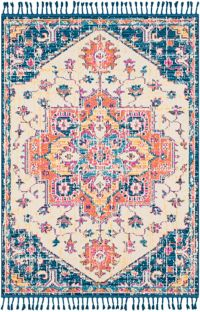 Surya Love Transitional 2' x 3' Accent Rug in Navy/Sky Blue