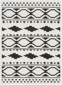 Surya Moroccan Shag 2' x 3' Accent Rug in Black/White