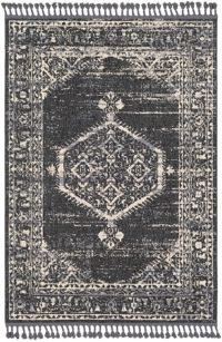 Surya Restoration Vintage-Inspired 2' x 3' Accent Rug in Charcoal