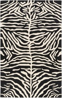 Surya Pollack Casual 4' x 6' Area Rug in Black/Cream