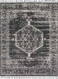 Surya Restoration Vintage-Inspired 7'10 x 10' Area Rug in Charcoal