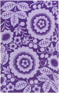 Surya Skidaddle Floral Rug in Violet