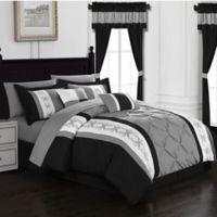Chic Home Adara 20-Piece Queen Comforter Set in Black