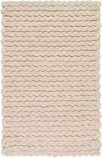 Surya Yukon Solids and Tonals 2' x 3' Accent Rug in Beige