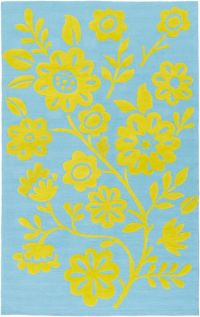 Surya Skidaddle Floral 7'6 x 9'6 Hand-Tufted Area Rug in Lime