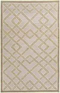 Surya Brighton Geometric 2' x 3' Handcrafted Accent Rug in Khaki