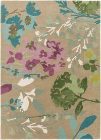 Surya Scion Floral 8' x 11' Handcrafted Area Rug in Tan