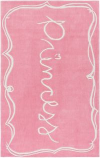 Surya Skidaddle Novelty Princess 2' x 3' Accent Rug in Light Pink