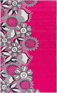 Surya Skidaddle 2' x 3' Hand-Tufted Area Rug in Bright Pink