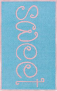 Surya Skidaddle Novelty 5' x 7'6 Handtufted Area Rug in Sky Blue