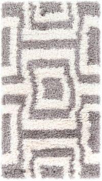 Surya Winfield 2' x 3'7 Loomed Shag Accent Rug in Medium Grey